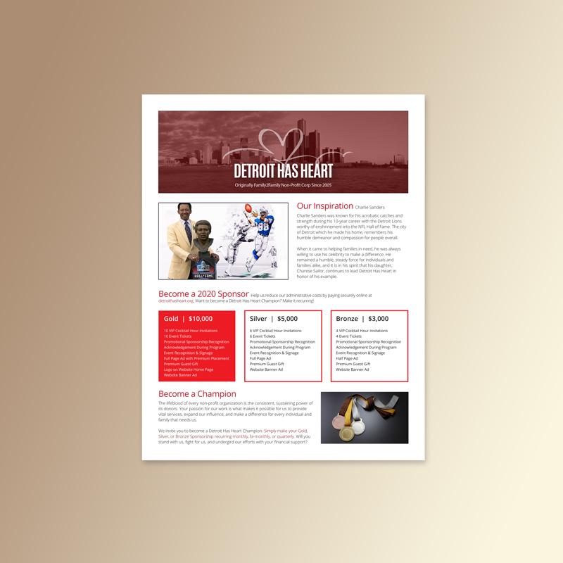 Detroit Has Heart | Advertising One Sheet