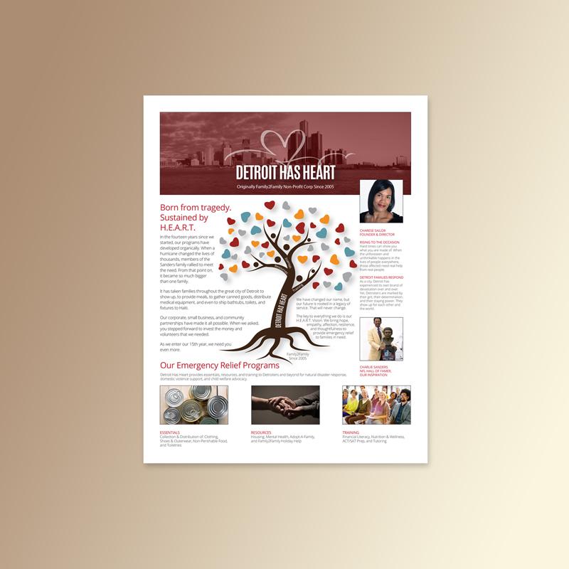 Detroit Has Heart | Sponsorship One Sheet